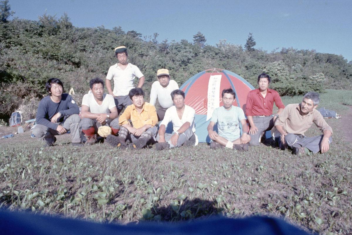 1978_黒岩平の整備ベースキャンプ