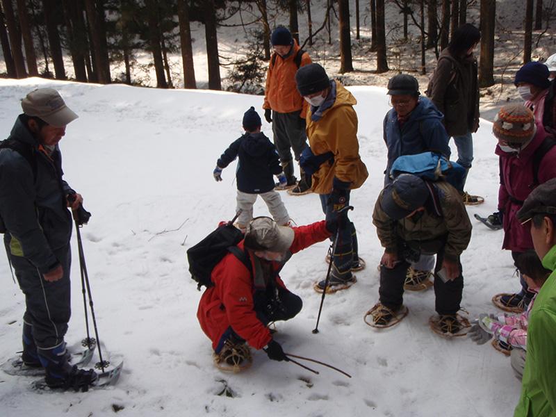 田海・倉谷川で雪上トレッキング(きらら自然の会)