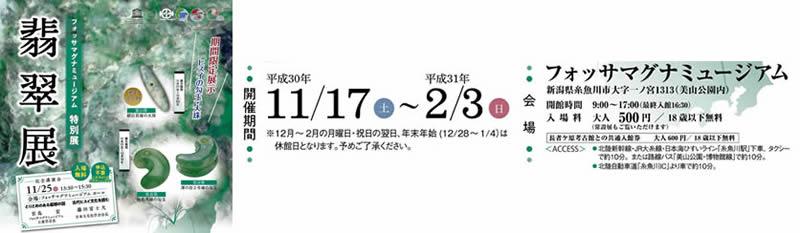 平成30年11月17日(土)~平成31年2月3日(日)