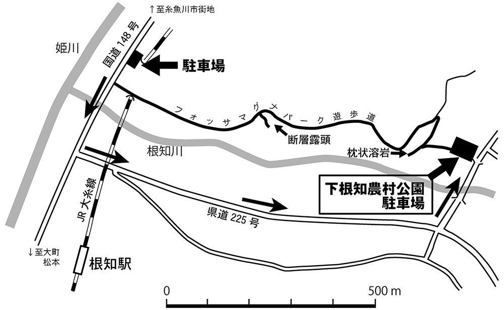 フォッサマグナパーク 駐車場案内地図