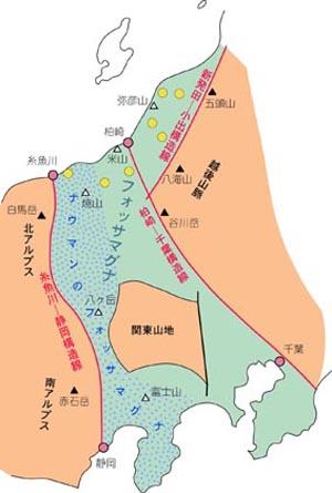 黄丸印は、深さ6000m級のボーリング調査が実施された位置