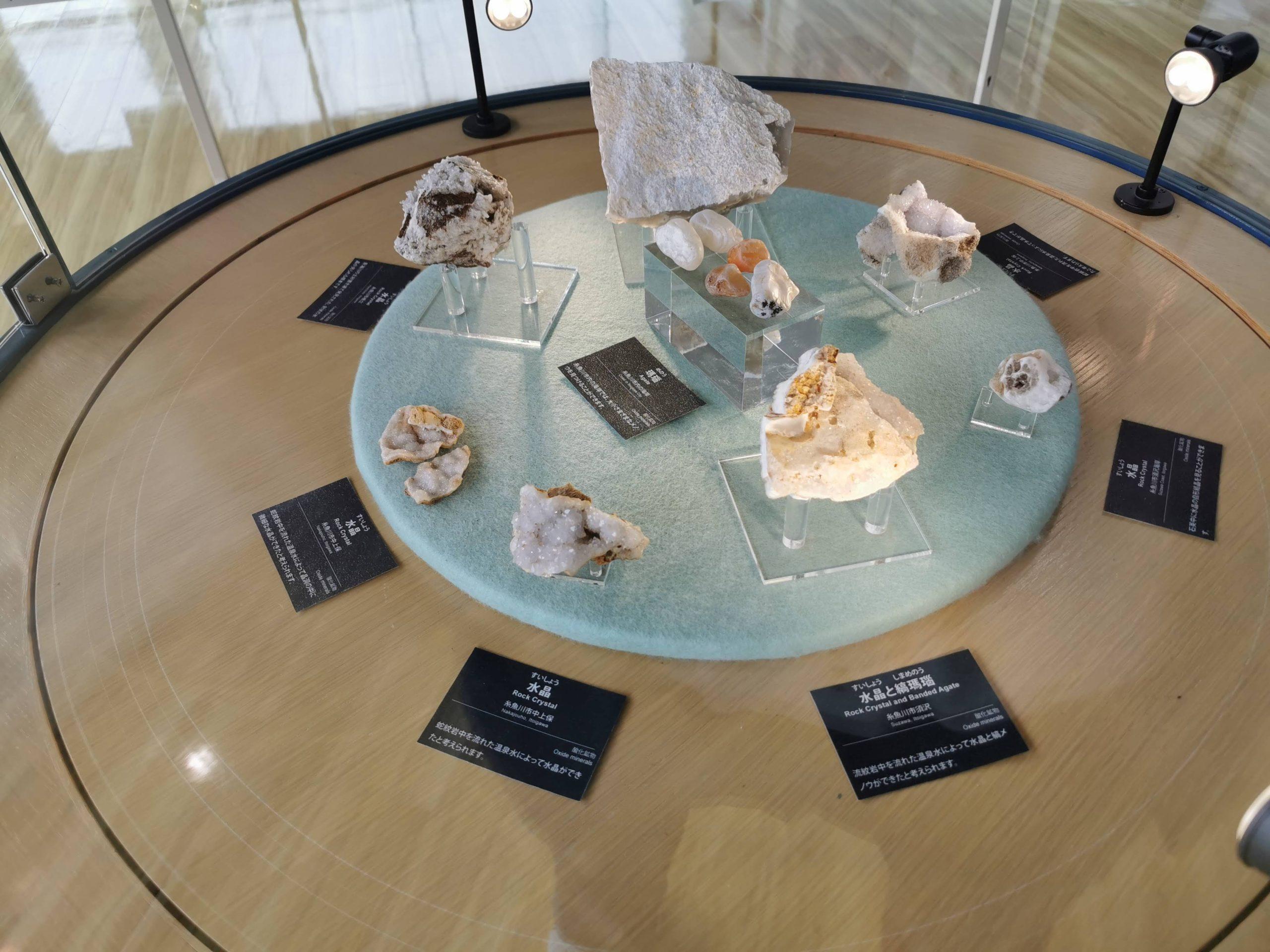 水晶の展示